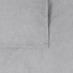 BB118702 Dekbedovertrek ledikant 100x135 Bo grijs - detail