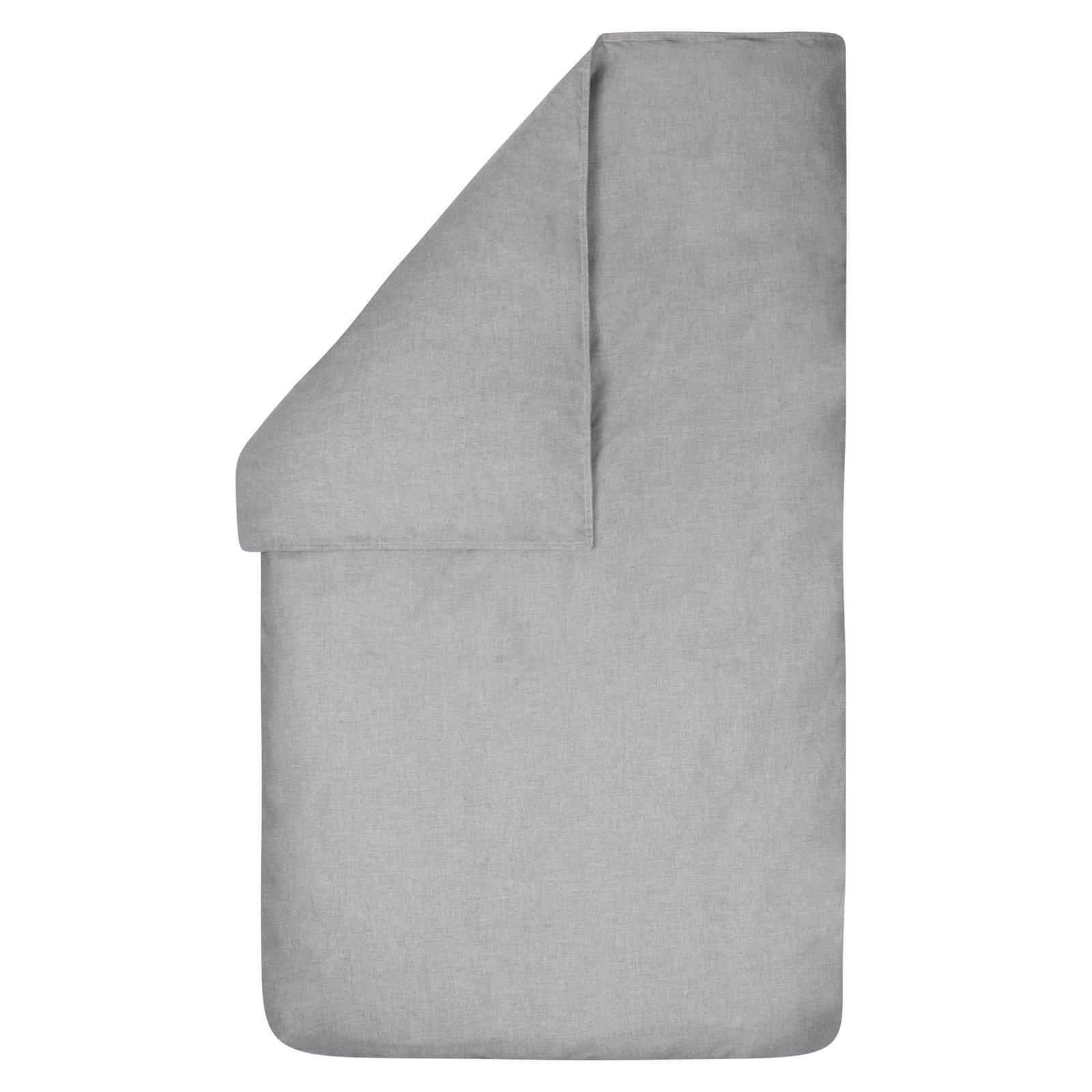 dekbedovertrek Bo grijs 100×135
