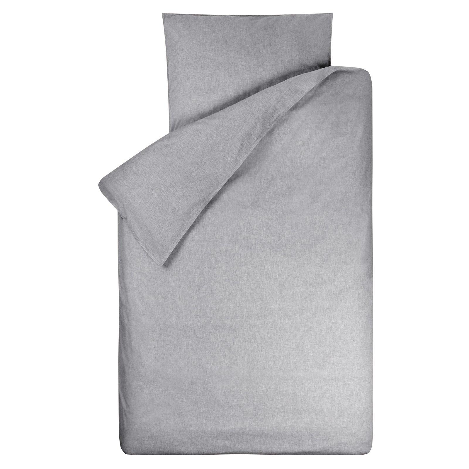 dekbedovertrek Bo grijs  120×150
