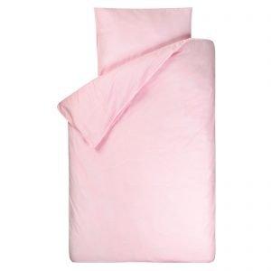 Dekbedovertrek Bo roze 140x200, gemaakt van een zachte chambray in de kleur roze (lichtroze/babyroze) met doorlopende instopstrook.