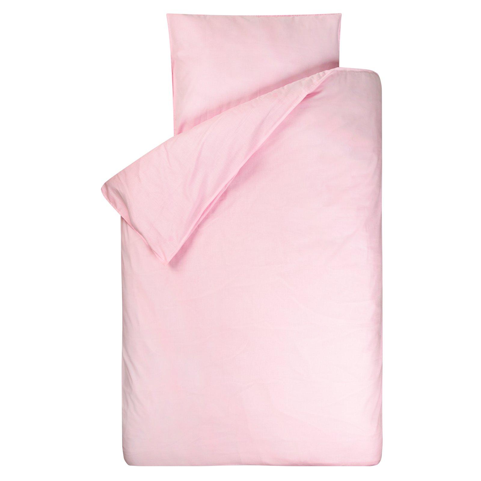 dekbedovertrek Bo roze  120×150