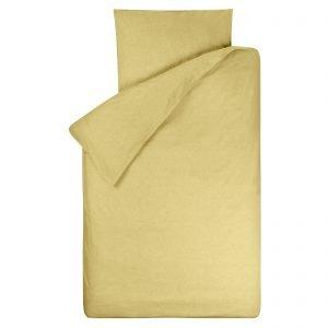 Dekbedovertrek Bo oker 120x150, gemaakt van zachte chambray in de kleur okergeel (sulfur/licht maïsgeel), geschikt voor peuterdekbed.