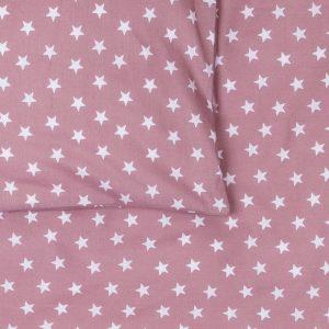 BB119502 Dekbedovertrek ledikant 100x135 Stars oudroze - detail