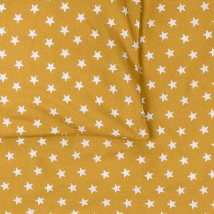 BB119902 Dekbedovertrek ledikant 100x135 Stars oker - detail