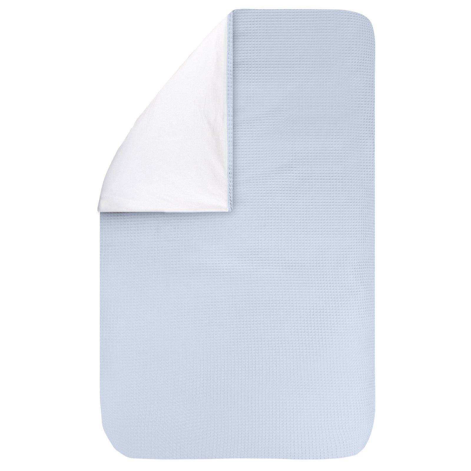 dekbedovertrek Pique blue 100×135