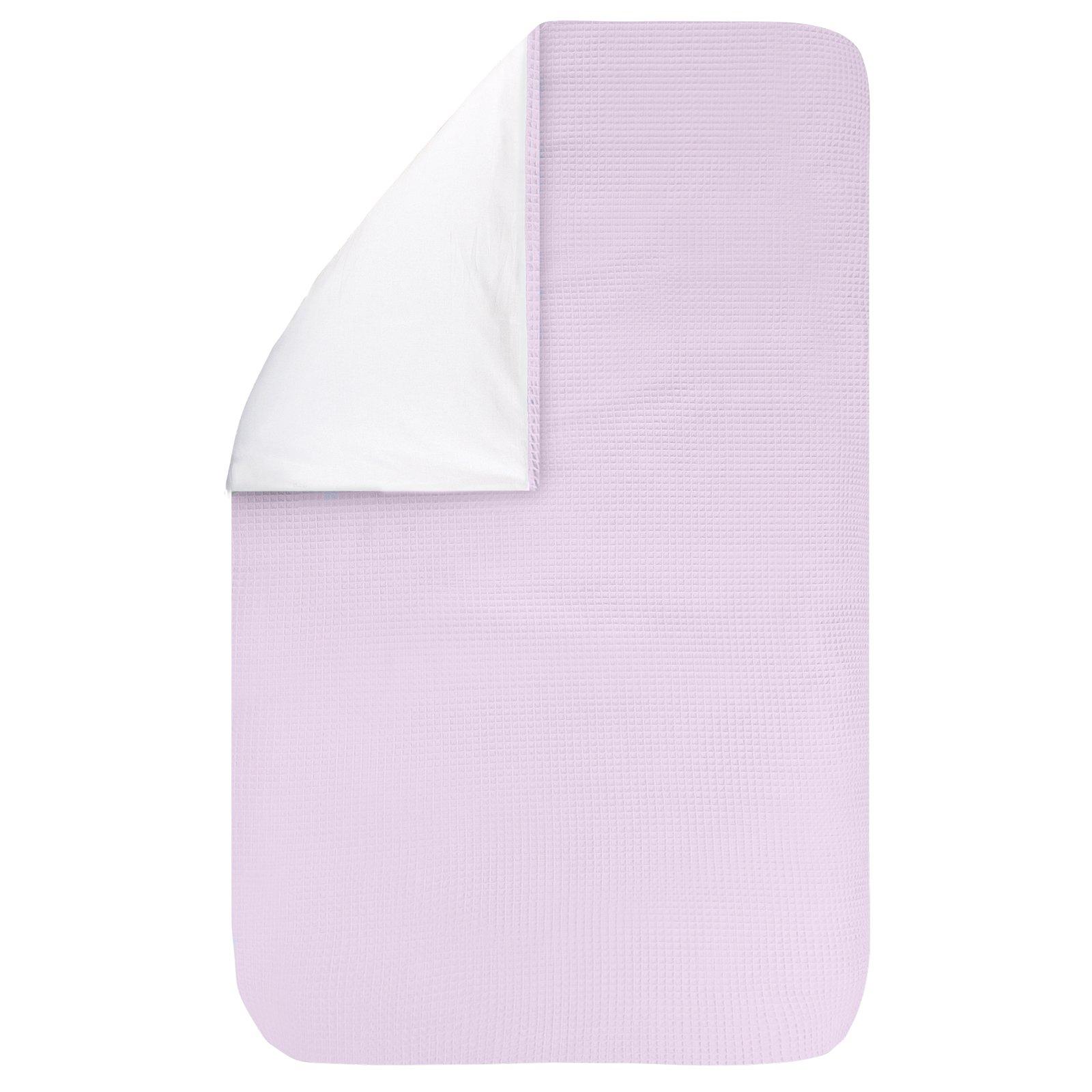 dekbedovertrek Pique roze 100×135