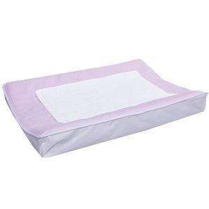 Waskussenhoes van wafelstof in roze