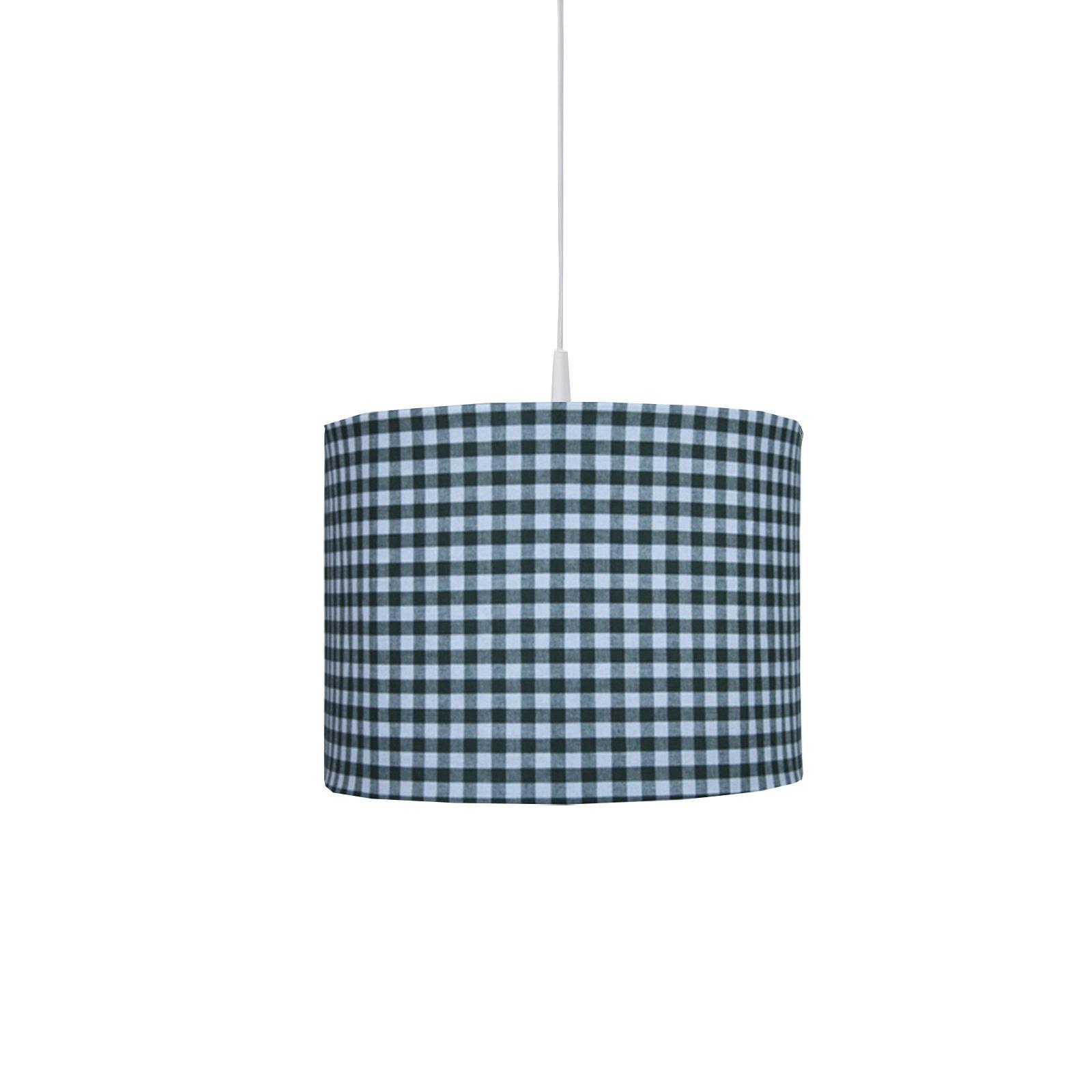 ronde hanglamp met groen BB ruit