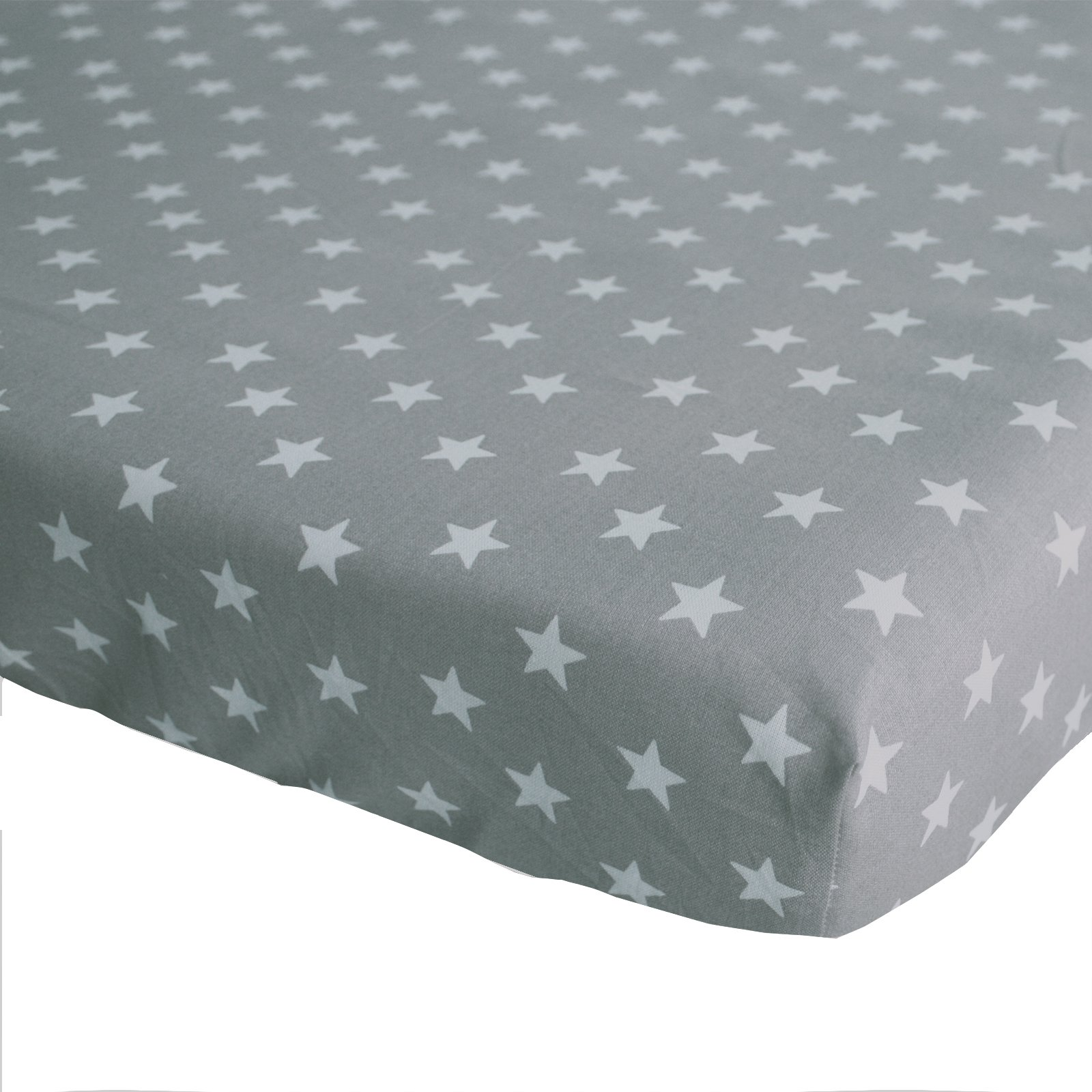hoeslaken Stars grijs 70×150