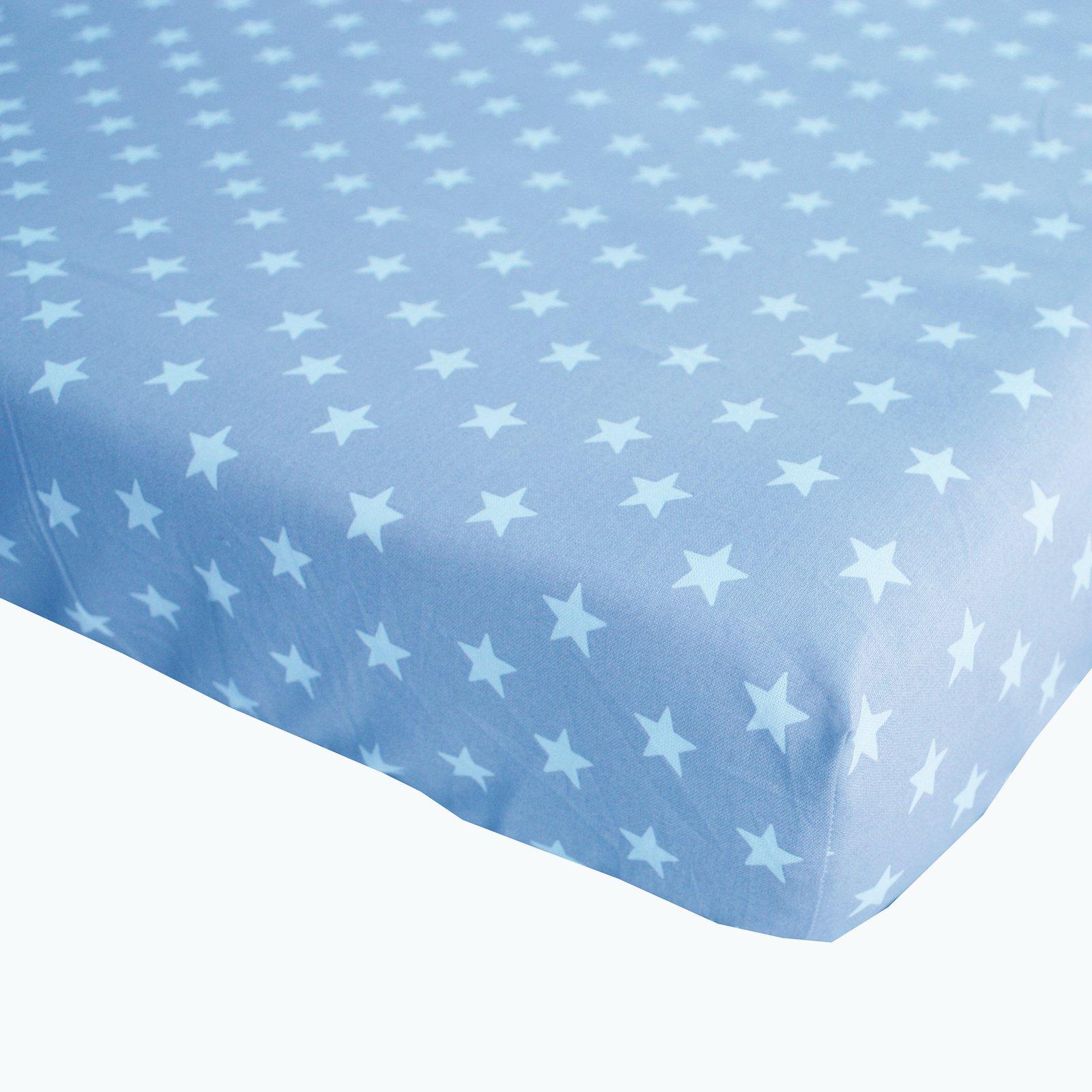 hoeslaken Stars blue 70×150