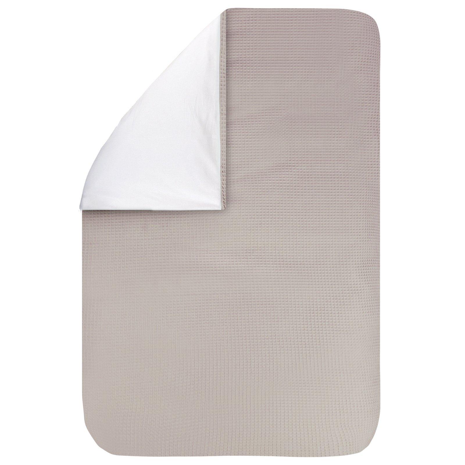 Dekbedovertrek Pique zand 100x135, een fijn dekbedovertrek van zachte zand-beige wafelkatoen. Goed te combineren met BINK printjes.