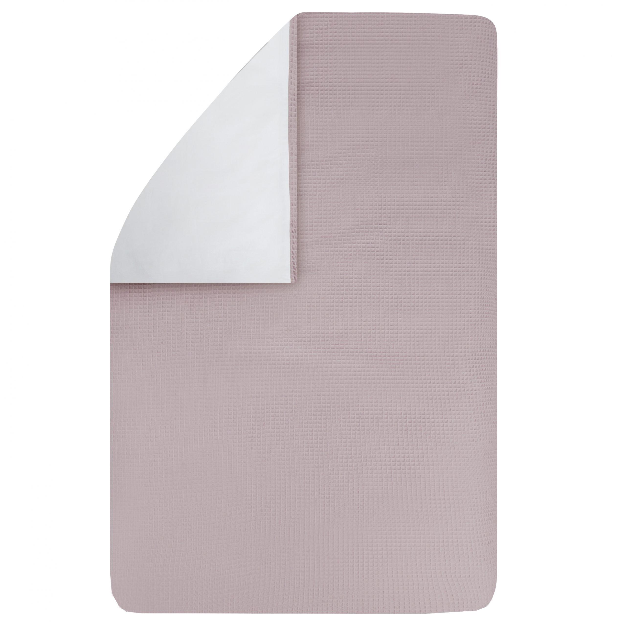 dekbedovertrek Pique oud roze 100×135