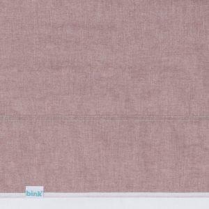 Ledikantlaken Bo oud roze (red bud) met stoer doorgestikt dubbel stiksel