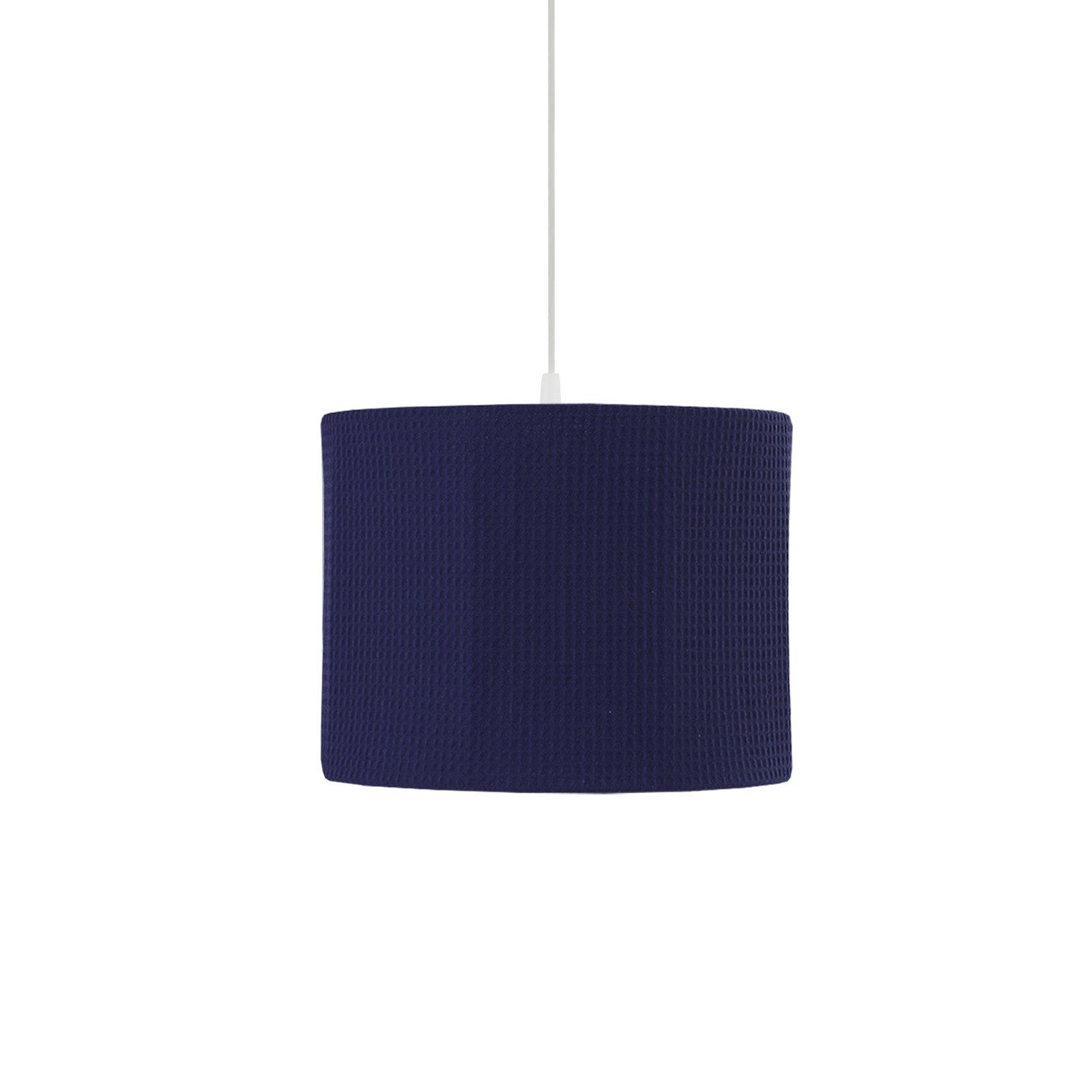 ronde hanglamp van marine wafelstof