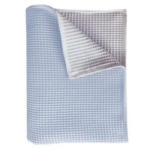 BINK Wiegdeken Pique blue/wit 75x100