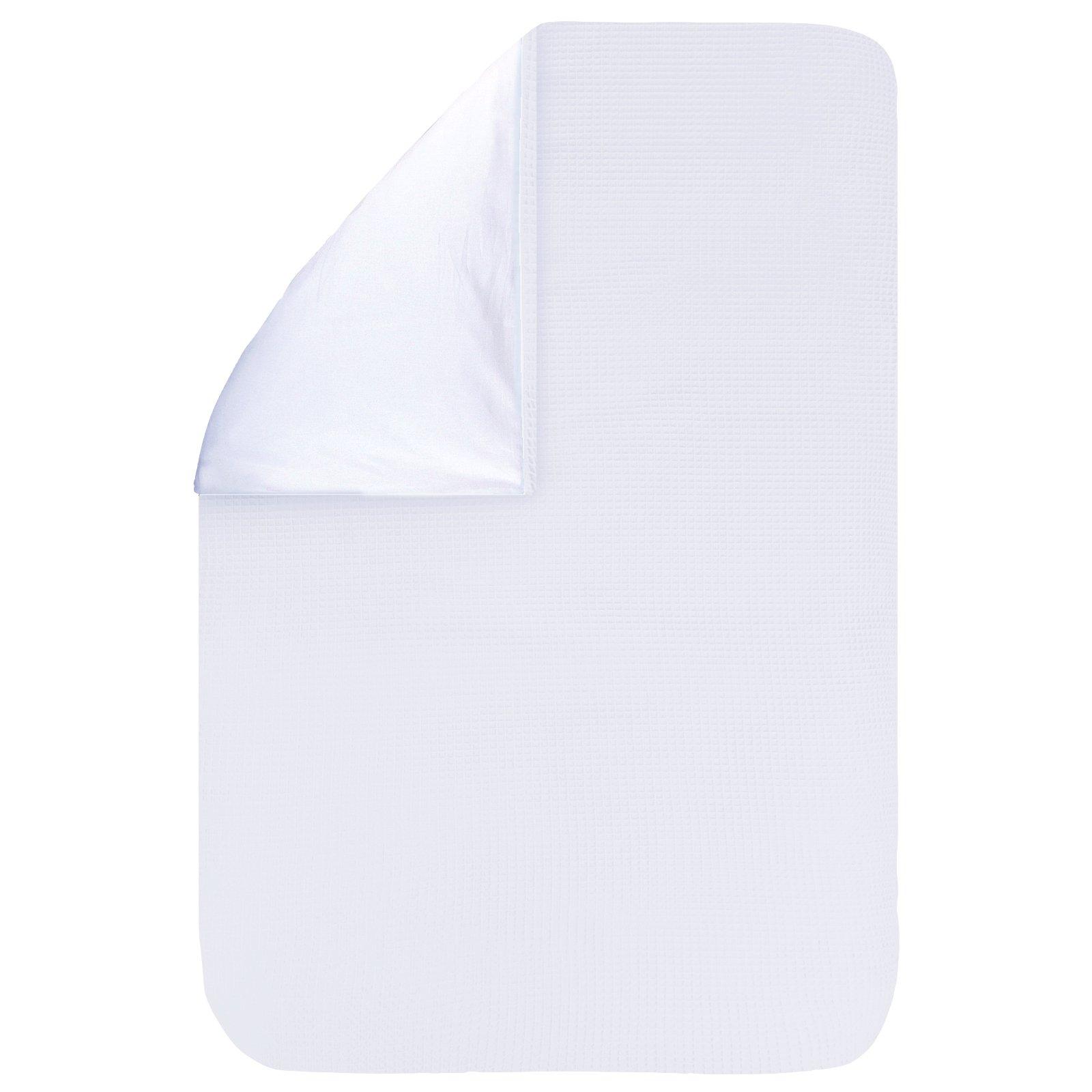 Dekbedovertrek Pique wit 100x135, een fijn dekbedovertrek van zachte witte wafelkatoen. Goed te combineren met BINK printjes.